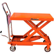 PrestoLifts™ Portable Manual Scissor Lift XP24-10 1000 Lb. Cap. 24x36