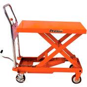 PrestoLifts™ Portable Manual Scissor Lift XP24-10 1000 Lb. Cap. 24x36