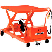 PrestoLifts™ Portable Electric Scissor Lift XBP36-10 1000 Lb. Cap. 24x48