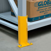 """Pallet Rack Frame Guard 12"""" H, with Hardware - Yellow"""