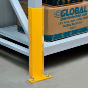 """Global Industrial™ Pallet Rack Frame Guard 18"""" H, with Hardware - Yellow"""