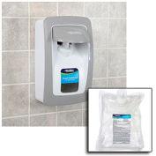 Global Industrial™ Hand Sanitizer Starter Kit W/ FREE Dispenser - White/Gray