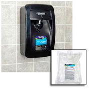 Global Industrial Hand Sanitizer Starter Kit W/ Automatic Dispenser Black by Hand Sanitizers