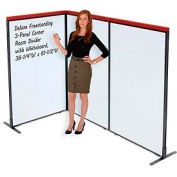 """Deluxe Freestanding 3-Panel Corner Room Divider with Whiteboard, 36-1/4""""W x 61-1/2""""H"""