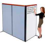 "Deluxe Freestanding 3-Panel Corner Room Divider with Whiteboard, 36-1/4""W x 73-1/2""H, Blue"