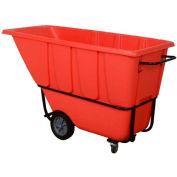 Wesco® 272583 1 Cu. Yd. Standard Duty Red Tilt Truck 1250 Lb. Cap.