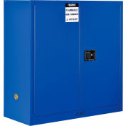 "Global Industrial™ Acid Corrosive Cabinet - 30 Gallon - Manual Close 43""W x 18""D x 44""H"