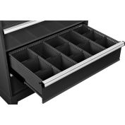 """Global Industrial™ Dividers for 8""""H Drawer of Modular Drawer Cabinet 36""""Wx24""""D, Black"""