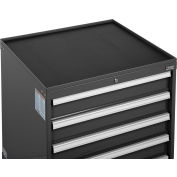 """Global Industrial™ Top Tray w/Vinyl Mat for 30""""Wx27""""D Modular Drawer Cabinet Black"""