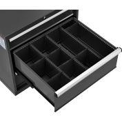 "Global Industrial™ Divider Kit for 10""H Drawer of Modular Drawer Cabinet 30""Wx27""D, Black"