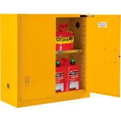 "Global Industrial™ Flammable Cabinet, Self Close Double Door, 30 Gallon, 43""Wx18""Dx44""H"