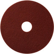 """Global Industrial™ 20"""" EcoPrep """"EPP"""" Chemical Free Stripping Pad, Maroon, 10 Per Case"""