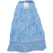 Global™ Medium Blue Looped Mop Head, Narrow Band