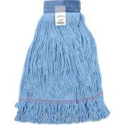 Global™ Medium Blue Looped Mop Head, Wide Band