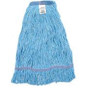 Global™ Large Blue Looped Mop Head, Narrow Band