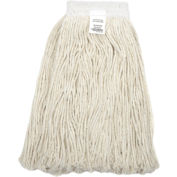 Global™ 16 oz. Cotton Cut-End Mop Head, 4Ply, Wide Band