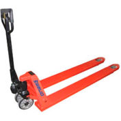 """Wesco® Extra-Long Fork Pallet Truck with 98""""L Forks 273586 3300 Lb. Cap."""