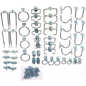 50 pc Value Pack - Locking Pegboard Hooks