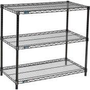 "Wire shelf Printer Stand 34""Hx18""Wx36""L, Black, 3-Shelf"