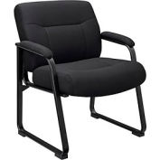 Interion™ - Big & Tall Guest Chair Black Fabric