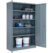 Paramount™ Storage Cabinet Easy Assembly 48x18x78 Gray
