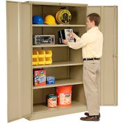 Paramount™ Storage Cabinet Easy Assembly 48x18x78 Tan