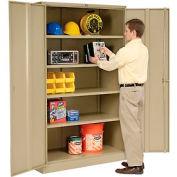 Global™ Storage Cabinet Assembled 48x18x78 Tan