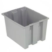 "Akro-Mils Nest & Stack Tote 35240 - 23-1/2""L  x 15-1/2""W x 12""H Gray, Shrink Wrapped"
