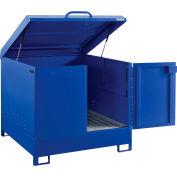 Global Industrial™ Outdoor Drum Cabinet 220 Gal. Capacity, Manual Close, Unassembled
