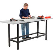 "96""W x 30""D Standing Height Workbench - Plastic Laminate Square Edge - Black"