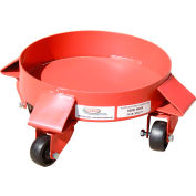 Modern Equipment MECO SDD5P 5 Gallon Solid Deck Drum Dolly Polyolefin Casters
