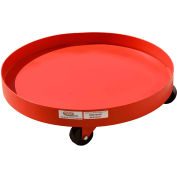Modern Equipment MECO SDD55R-H 55 Gallon Solid Deck Drum Dolly with Pull Loop Hard Rubber Casters