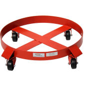 Modern Equipment MECO 536-RG 55 Gallon Outrigger Drum Dolly Polyolefin Casters