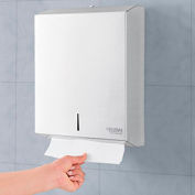 Global™ Stainless Steel C-Fold/Multifold Towel Dispenser - 400 C-Fold/525 Multifold Towels