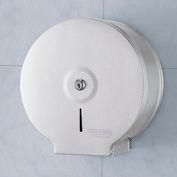 """Global Industrial™ Stainless Steel Jumbo Bathroom Tissue Dispenser - One 9"""" Roll"""