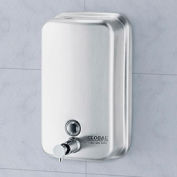 Global™ Stainless Steel Vertical Liquid Soap Dispenser - 1000 ml