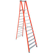 Louisville 10' Type 1A Fiberglass Pro Platform Step Ladder - FXP1710