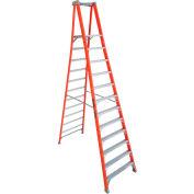 Louisville 12' Type 1A Fiberglass Pro Platform Step Ladder - FXP1712