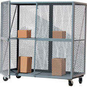 Optional Middle Shelf for Modern Equipment MECO Open Mesh Steel Security Truck 72x36 Red