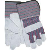 "Memphis® Leather Palm Gloves with 4-1/2"" Rubberized Gauntlet Cuff, Size L, 1 Dozen"
