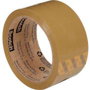 "3M Carton Sealing Tape 371 2"" x 55 Yds 1.9 Mil Tan - Pkg Qty 6"