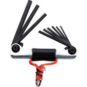 Proto® J4993-TT Tether-Ready 9 Piece Folding Inch Hex Key Set