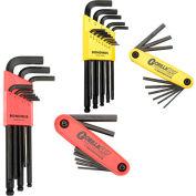 Bondhus 14187 & 14189 Bonus Pack - Balldriver L-wrench Set & Gorilla Grip Fold-up Set