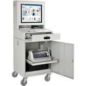 Mobile Security LCD Computer Cabinet Enclosure - Gray (Assembled)