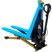 Electric High Lift Skid Jack Truck with Scale 3000 Lb. Cap.