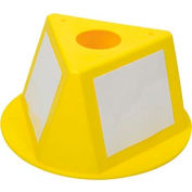 Inventory Cone Yellow 3-Sided With Dry Erase Decal