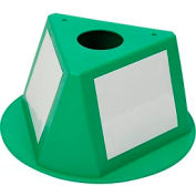Inventory Cone Green 3-Sided With Dry Erase Decal