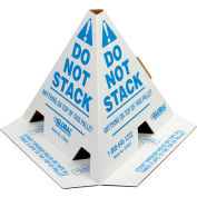 """Global Industrial™ """"Do Not Stack"""" Printed Pallet Cones, White, 50/Pack"""