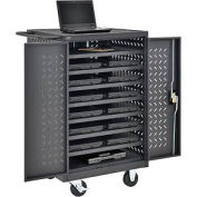 Mobile Storage & Charging Cart for 12 Laptop & Chromebook™ Devices, Black