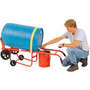Modern Equipment MECO 45P-KS-1 Poly Drum Drainer Truck Polyolefin Casters 1000 Lb.